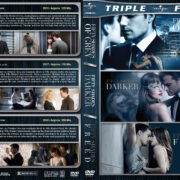Fifty Shades of Grey / Darker / Freed Triple Feature (2015-2018) R1 Custom DVD Cover