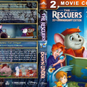 The Rescuers Double Feature (1977-1990) R1 Custom Blu-Ray Cover