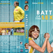 Battle of the Sexes (2017) R1 Custom DVD Cover & Label