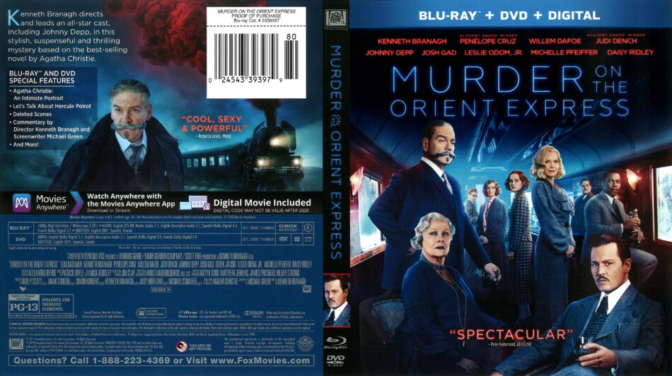 Murder On The Orient Express 2017 R1 Blu Ray Cover Dvdcover Com