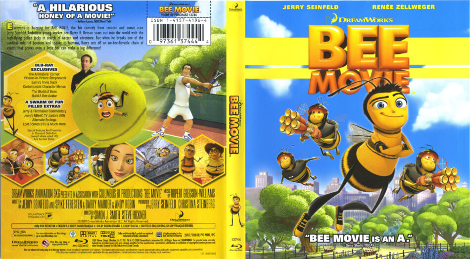 Bee Movie 2007 R1 Blu Ray Cover Label Dvdcover Com