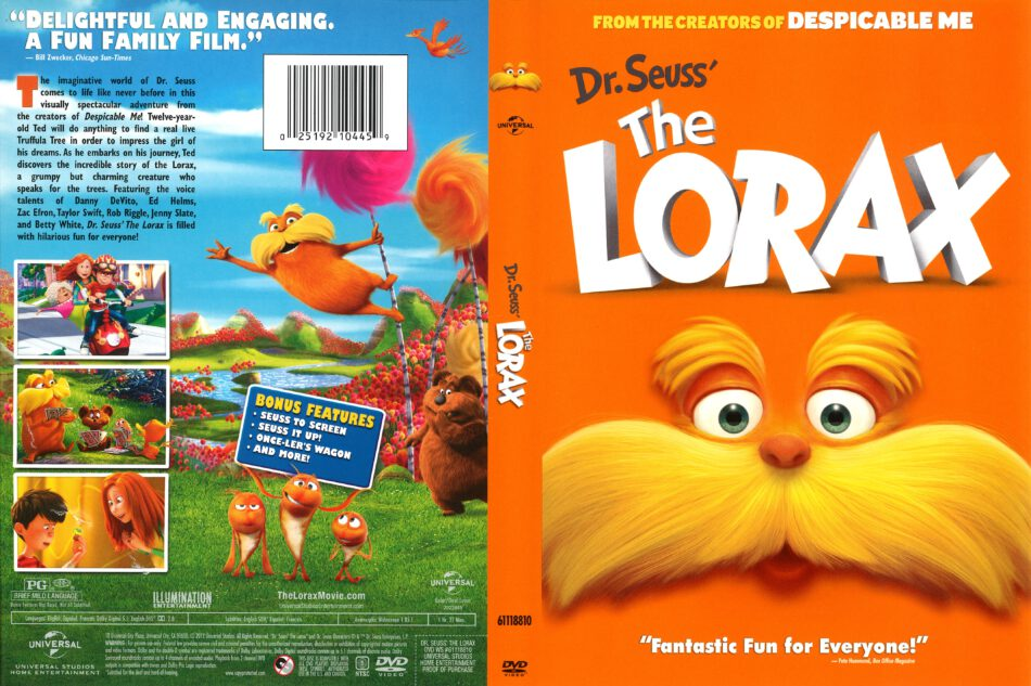 The Lorax 2012 R1 Dvd Cover Dvdcover Com