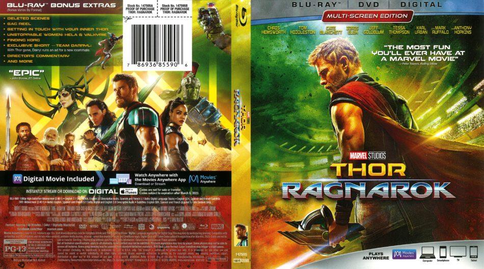 Thor Ragnarok 2018 R1 Blu Ray Cover Dvdcover Com