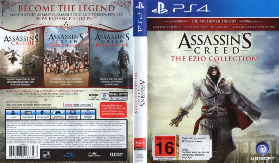 Assassin S Creed The Ezio Collection 2016 Pal Ps4 Cover Dvdcover Com