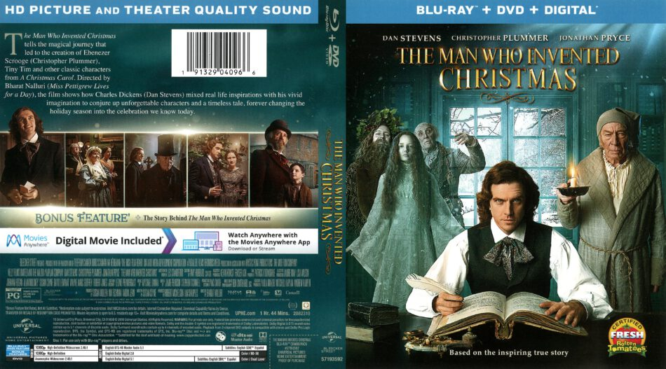 The Man Who Invented Christmas Dvd.The Man Who Invented Christmas 2018 R1 Blu Ray Cover