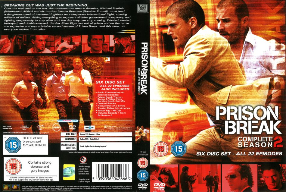 Prison Break Season 2 2006 R1 Dvd Cover Dvdcover Com