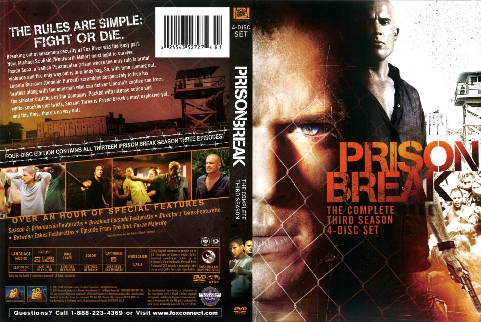 Prison Break Season 3 2008 R1 Dvd Cover Dvdcover Com