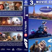 Ratatouille / Wall•E / Up Triple Feature (2007-2009) R1 Custom Blu-Ray Cover