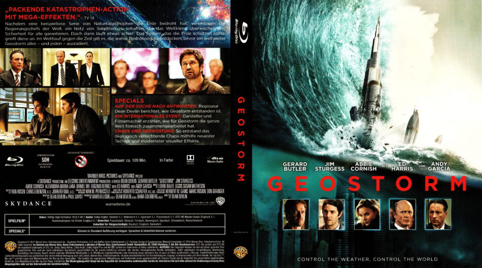 Geostorm 2017 R2 German Blu Ray Cover Label Dvdcover Com