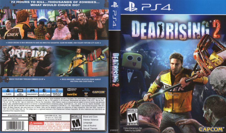 Dead Rising 2 2016 Ntsc Ps4 Cover Label Dvdcover Com
