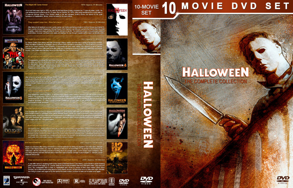 Halloween 1978 2020 Dvd Cover Halloween: The Complete Collection (1978 2009) R1 Custom DVD Cover