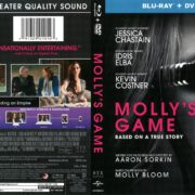 Molly's Game (2017) R1 Blu-Ray Cover
