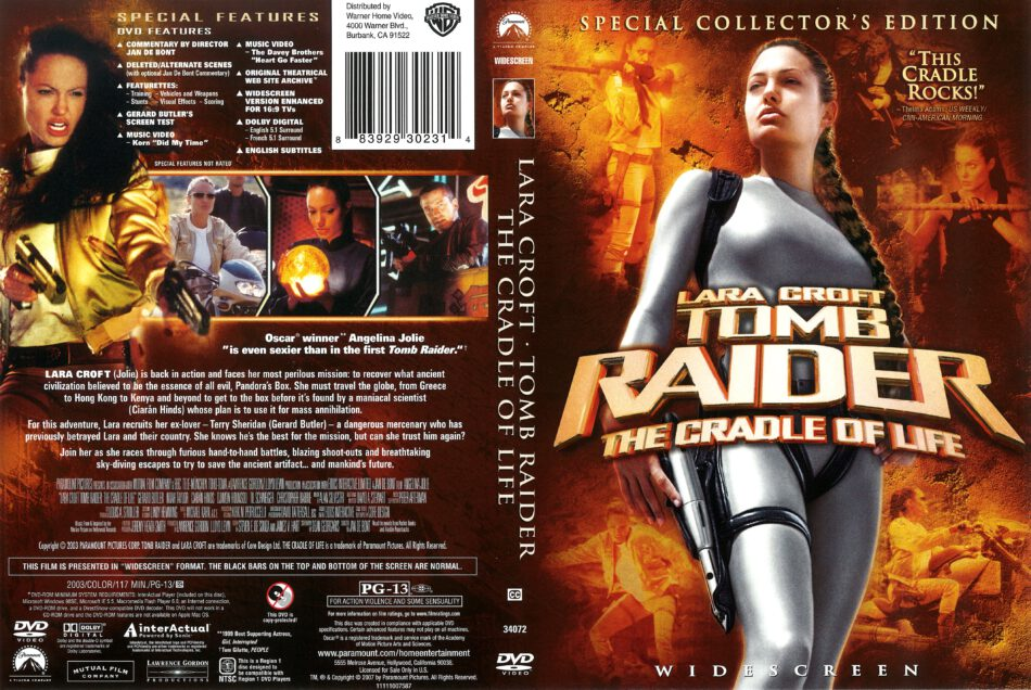 Lara Croft Tomb Raider The Cradle Of Life 2003 R1 Dvd Cover Dvdcover Com