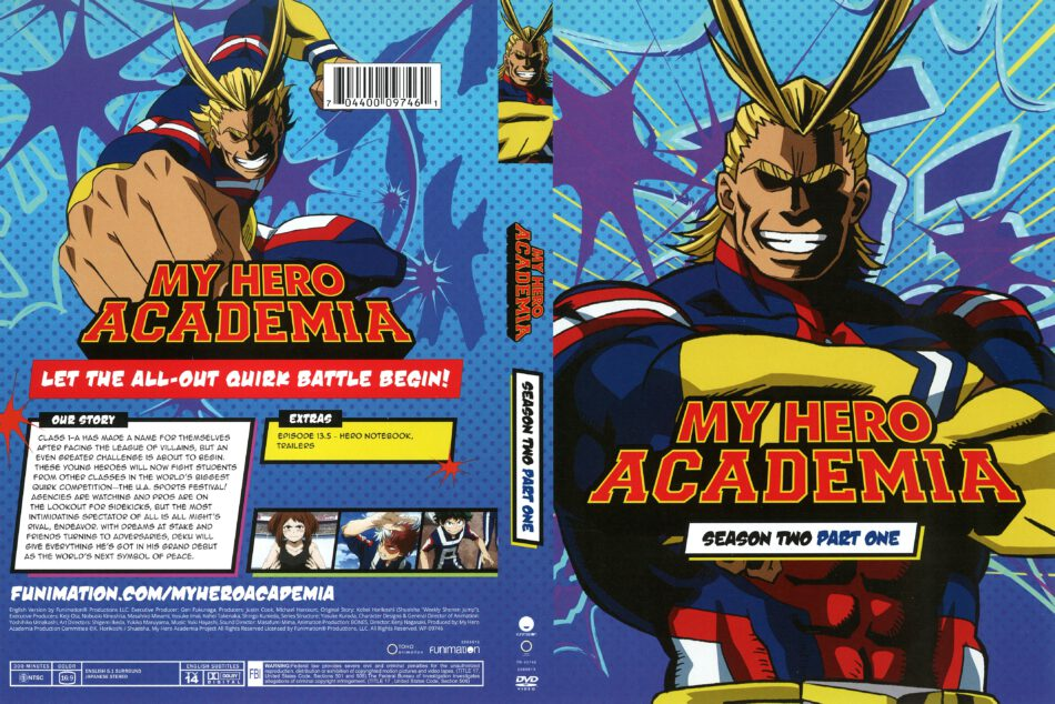 My Hero Academia Season 2 Part 1 (2018) R1 DVD Cover