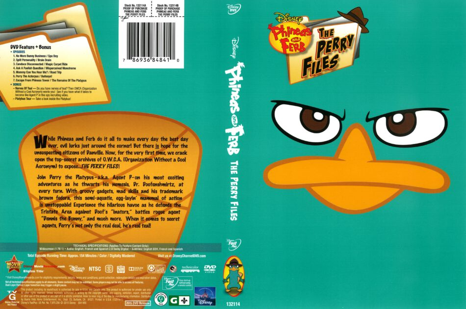 Phineas and Ferb: The Perry Files (2015) R1 DVD Cover - DVDcover Com