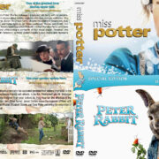 Miss Potter / Peter Rabbit Double Feature (2006-2018) R1 Custom DVD Cover & Labels