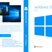 Windows 10 Pro 32 Bit Custom DVD Cover & Label