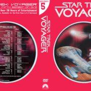 Star Trek Voyager Season 5 (2004) R1 Custom DVD Cover