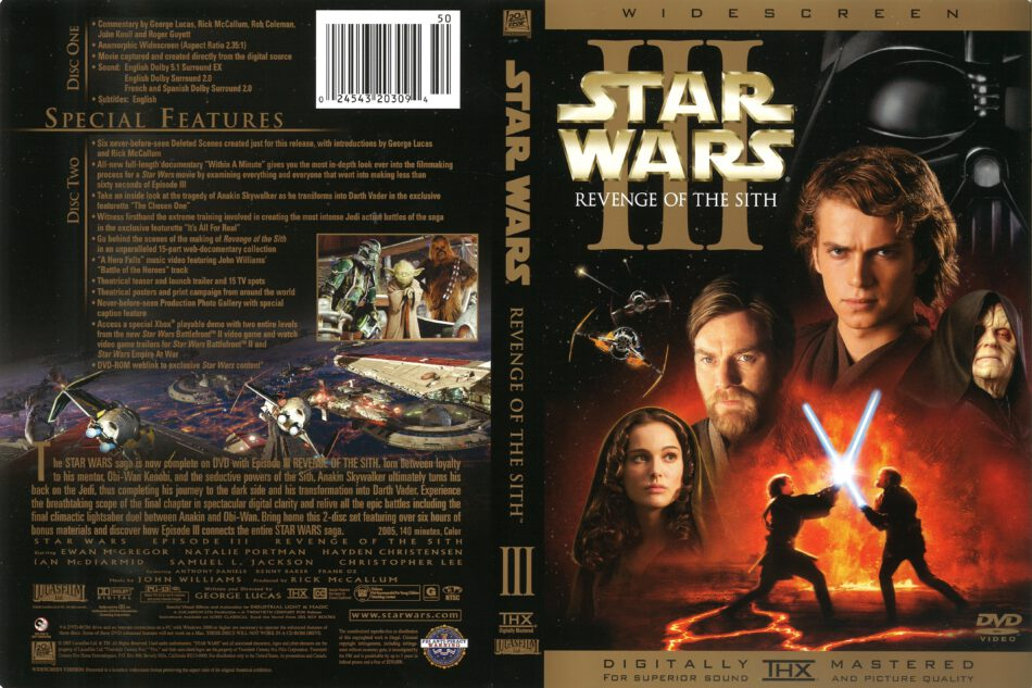 Star Wars Episode Iii Revenge Of The Sith 2005 R1 Dvd Cover Dvdcover Com