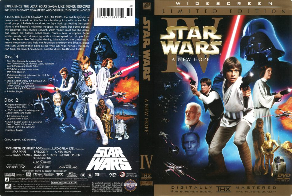 Star Wars Episode Iv A New Hope 1977 R1 Dvd Cover Dvdcover Com