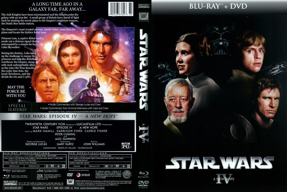 Star Wars Episode Iv A New Hope 1977 R1 Custom Dvd Cover Dvdcover Com