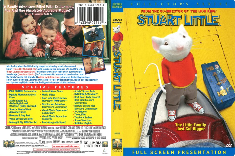 Stuart Little 2000 R1 Dvd Cover Dvdcover Com