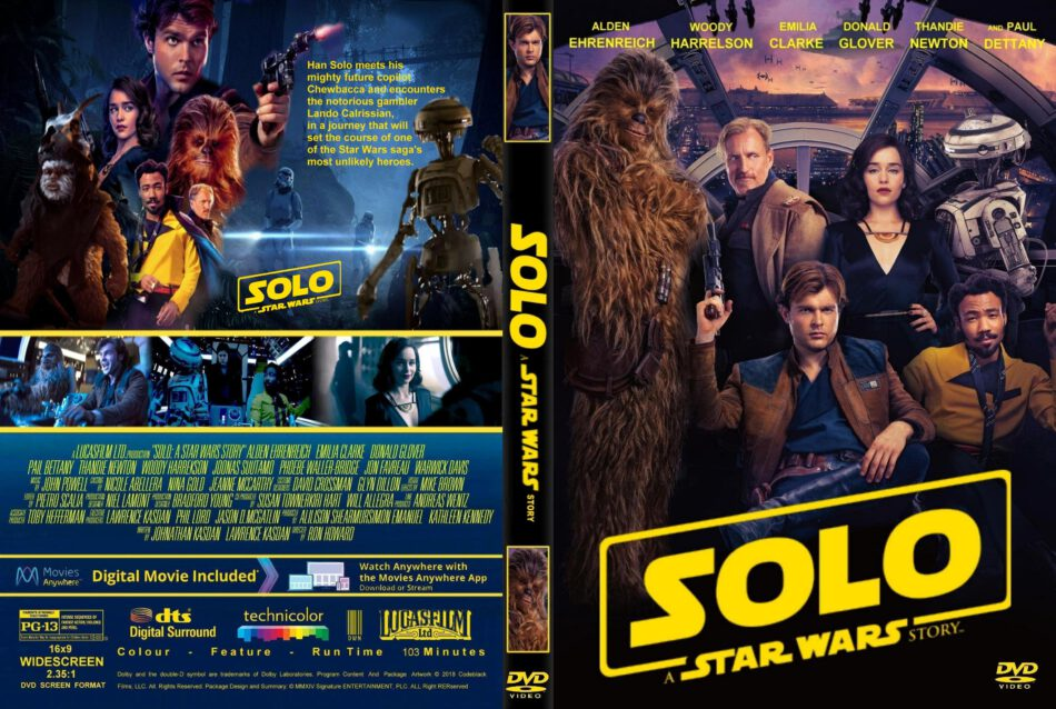 Solo A Star Wars Story 2018 R1 Custom Dvd Cover Label Dvdcover Com