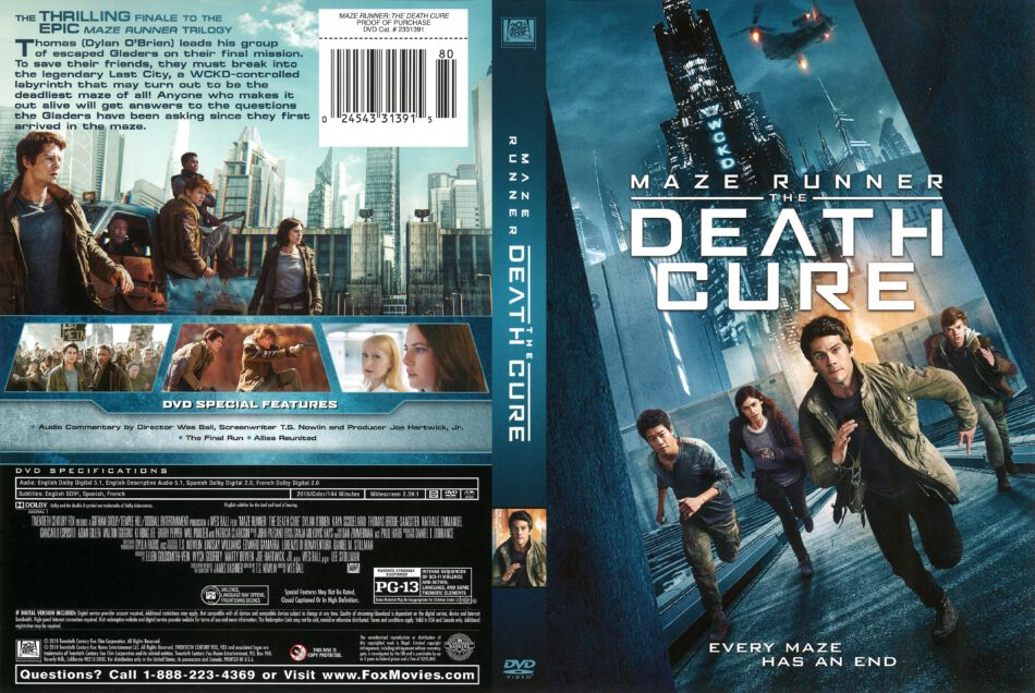 Maze Runner The Death Cure 2018 R1 Dvd Cover Dvdcover Com