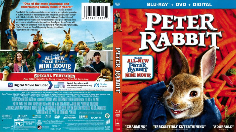 Peter Rabbit 2018 R1 Blu Ray Cover Dvdcover Com