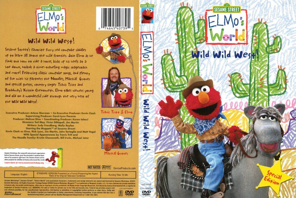 Elmo S World Wild Wild West 2009 R1 Dvd Cover Dvdcover Com