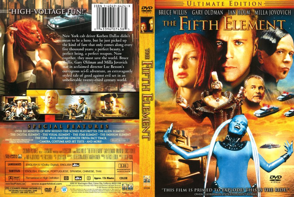 The Fifth Element 1997 R1 Dvd Cover Dvdcover Com