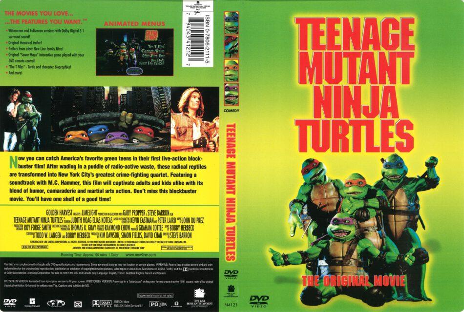 Teenage Mutant Ninja Turtles (1990) R1 DVD Cover