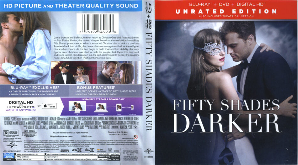 Fifty Shades Darker 2017 R1 Blu Ray Cover Labels Dvdcover Com