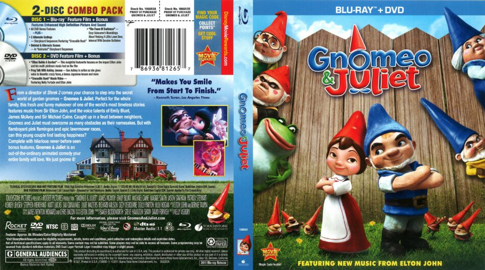 Gnomeo Juliet 2011 R1 Blu Ray Cover Dvdcover Com