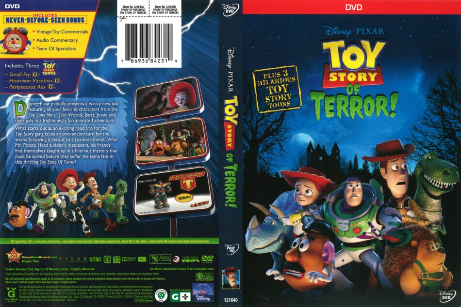 Toy Story Of Terror 2014 R1 Dvd Cover Dvdcover Com