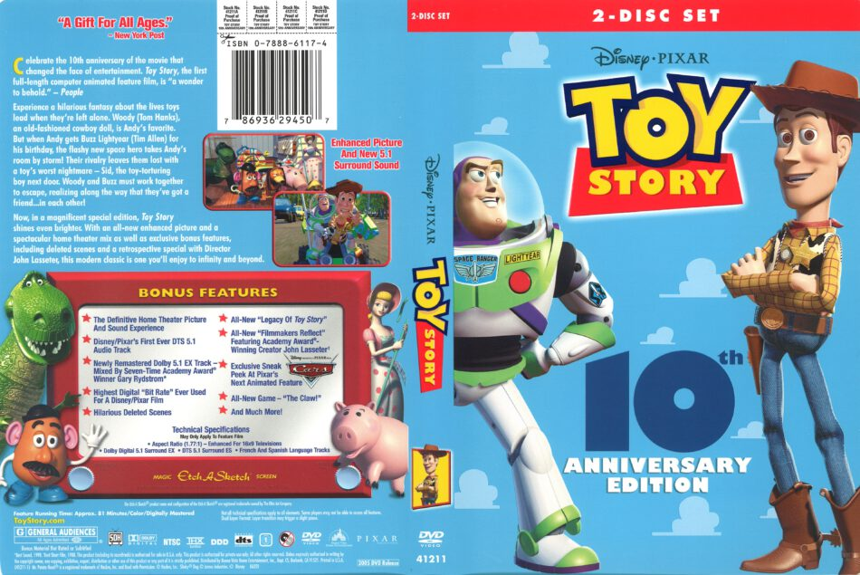 Toy Story 10th Anniversary Edition 2005 R1 Dvd Cover Dvdcover Com
