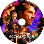 Accident Man (2018) R0 CUSTOM DVD Label