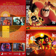The Incredibles Double Feature (2004-2018) R1 Custom DVD Cover & Labels