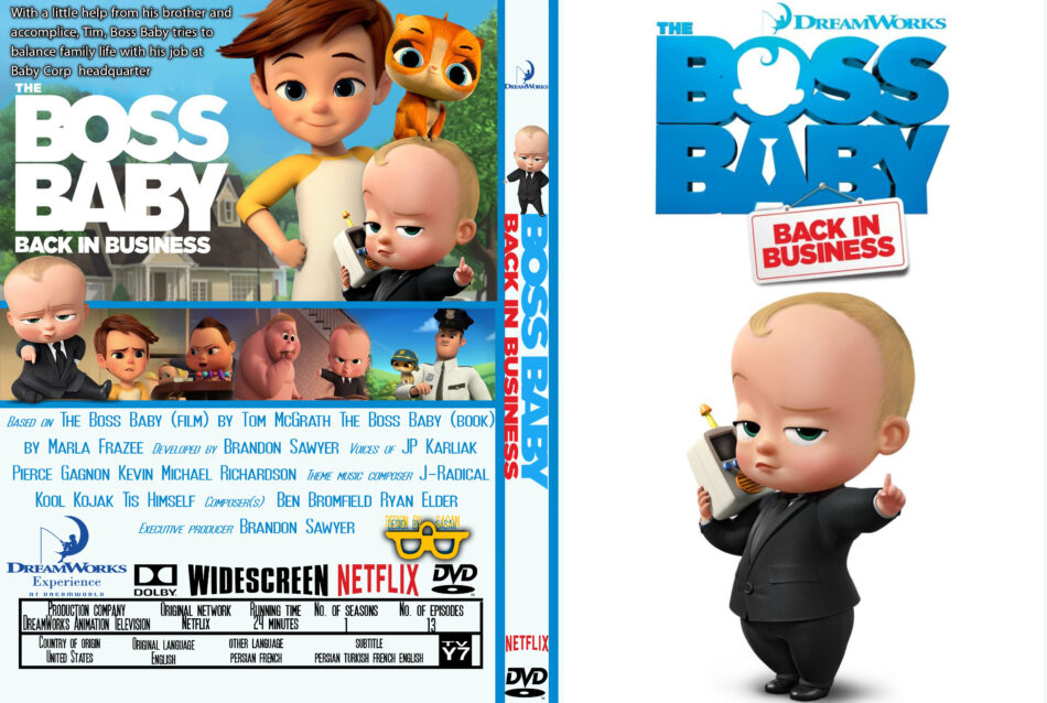 The Boss Baby Back In Business Season 1 2018 R0 Custom Dvd Cover Dvdcover Com