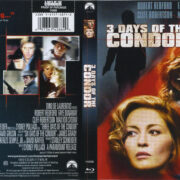 3 Days Of The Condor (1975) R1 Blu-Ray Cover & Label