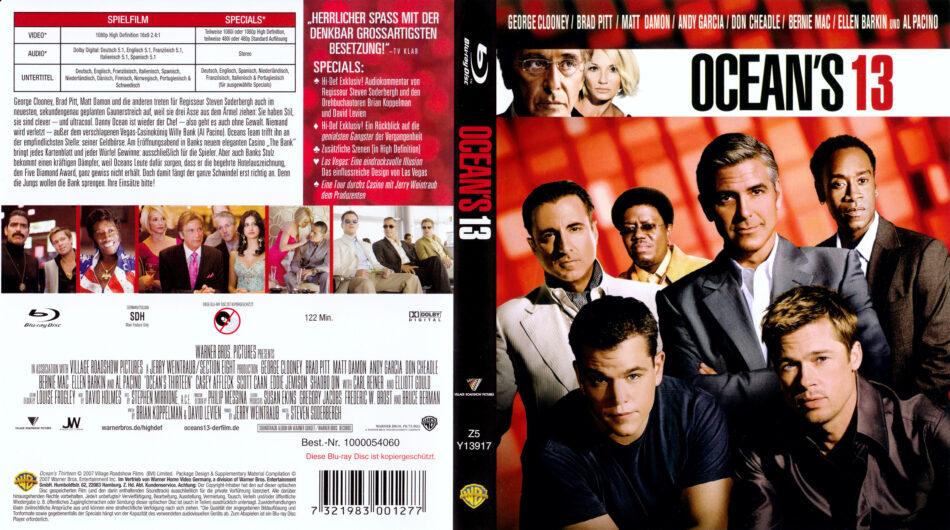 Ocean S Thirteen 2007 R2 German Blu Ray Covers Label Dvdcover Com
