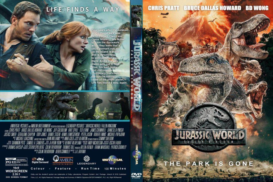 Jurassic World Fallen Kingdom 2018 R0 Custom Dvd Cover Label Dvdcover Com