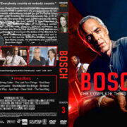 Bosch – Season 3 (2017) R1 Custom DVD cover & labels