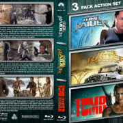 Tomb Raider Triple Feature (2001-2018) R1 Custom Blu-Ray Cover