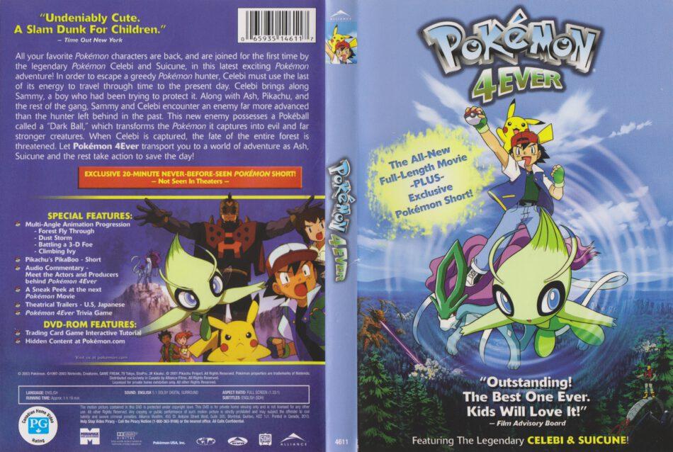 Pokemon 4ever 2001 R1 Dvd Cover Dvdcover Com