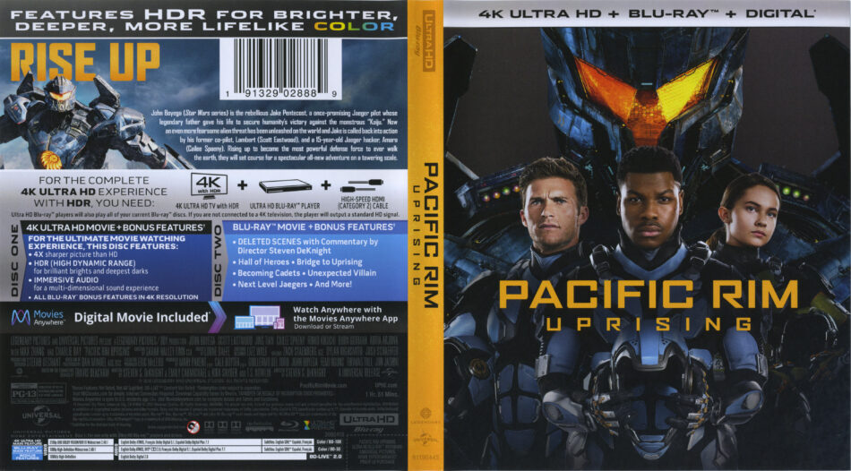 Pacific Rim Uprising 2018 R1 4k Uhd Cover Labels Dvdcover Com