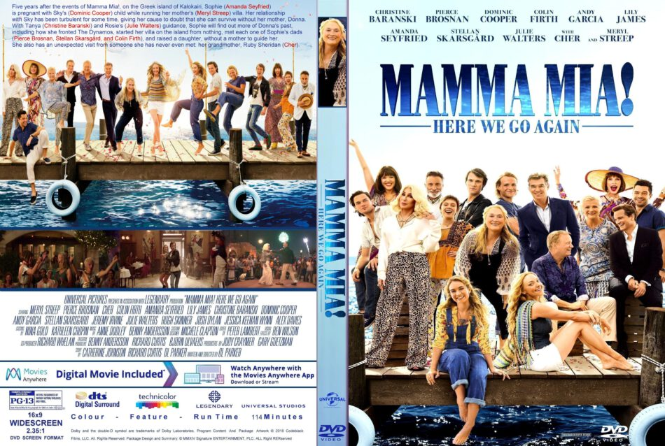 Mamma Mia Here We Go Again 2018 R1 Custom Dvd Cover Label