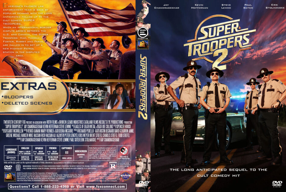 Super Troopers 2 (2018) R1 Custom DVD Cover - DVDcover.Com