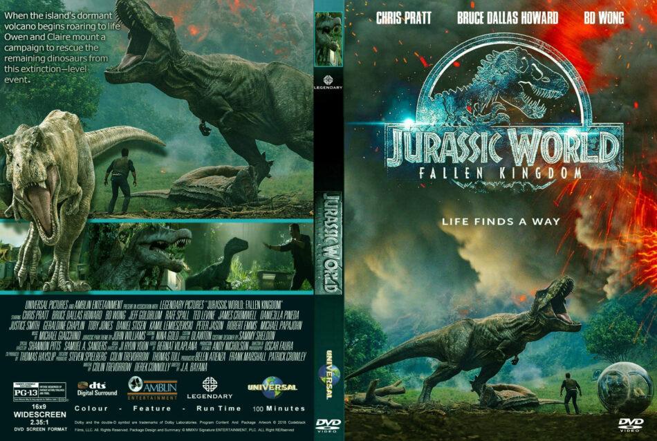 Jurassic World Fallen Kingdom 2018 R1 Custom Dvd Cover Label Dvdcover Com