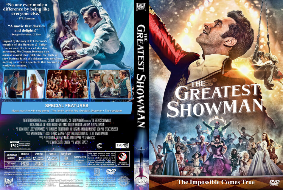 The Greatest Showman (2017) R1 Custom DVD Cover - DVDcover Com